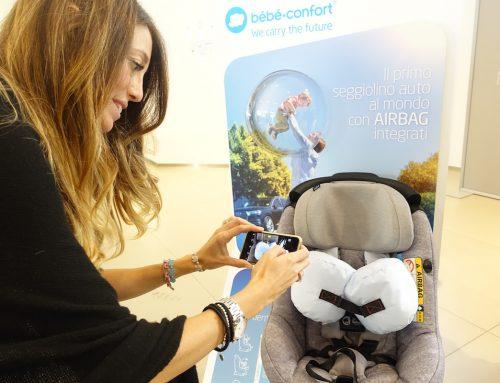 Evento Bebé Confort di lancio del nuovo seggiolino auto AxissFix Air #seggiolinoairbag